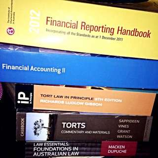 Adelaide University Commerce + Law Textbooks