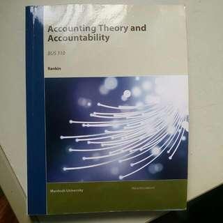 Accounting Theory And Accountability