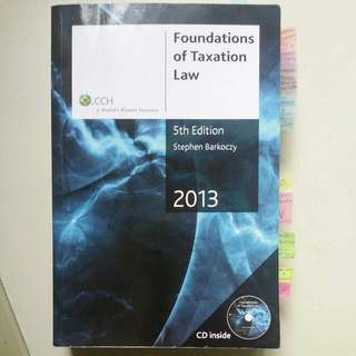 Foundation Of Taxation Law