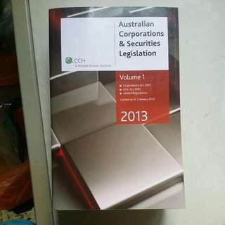 Australian Corporation & Securities Legislation