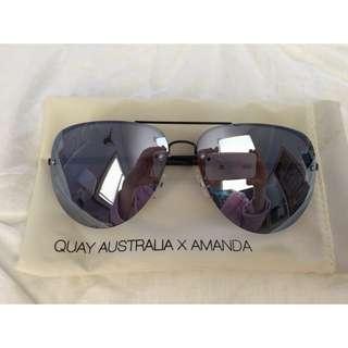 19178ddb9f7 Quay Australia x Amanda Steele MUSE (Black Purple) Sunglasses