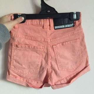DR DENIM Peach Coloured Shorts