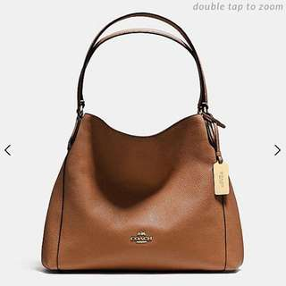 Coach Edie Shoulder Bag in Refined Pebbled Leather