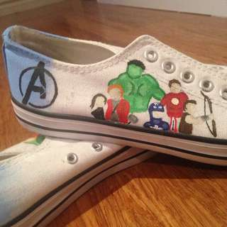 Avengers Painted Shoes Size 38