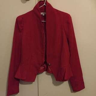 Temt Red Blazer