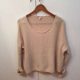 Cream Knitted