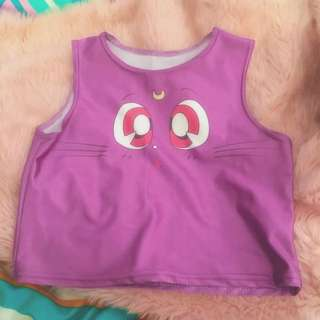 Luna Sailor Moon Kawaii Crop Top ON HOLD