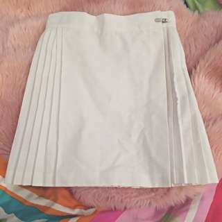 White Pleated Skirt Sz 8
