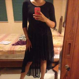 Dress Hitam / Black Dress Impor Bangkok