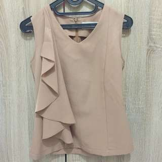 (X)SML Cream Sleeveless Top