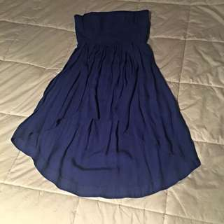 Strapless Royal Blue Dress Size 10