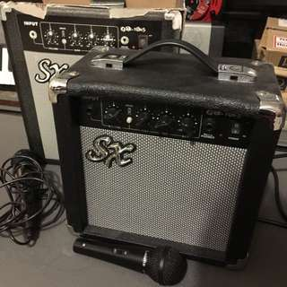 Amplifier With 2 Microphones !