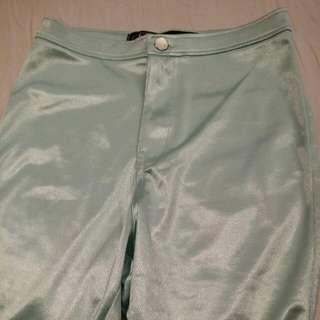*NEW Green Shiny Aqua Disco Pants