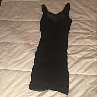 Bodicon Dress Black Size 10