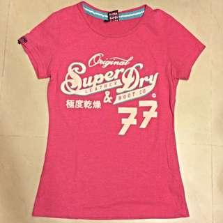 Superdry粉紅短踢
