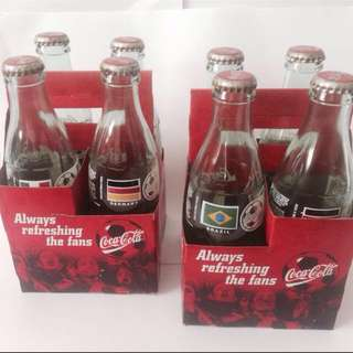 Limited edition 1988 Coca Cola World Cup Edition bottles.