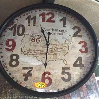 全新 美國66公路時鐘