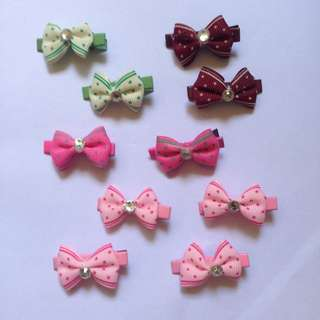 IN STOCK : Cute Mini Bow Design Hairclips