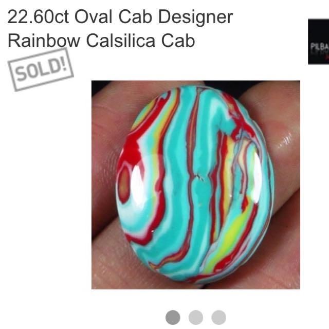 22.60 Ct Oval Cab Designer Calsillica Cab