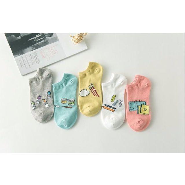 [買4送1]✨漫畫系✨韓版女孩兒甜心糖果襪品 短襪 女襪 船襪 低筒襪 襪子 🎀