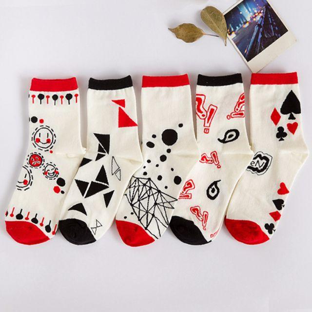 [買4送1]✨符號系✨韓版女孩兒甜心糖果襪品 長襪 女襪 船襪 中筒襪 襪子 🎀