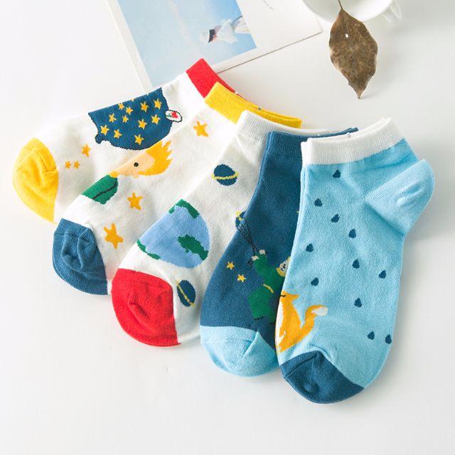 [買4送1]✨小王子系✨韓版女孩兒甜心糖果襪品 短襪 女襪 船襪 低筒襪 襪子 🎀