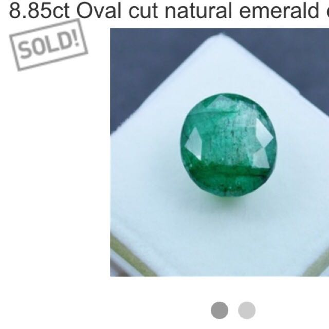 8.85 Ct Oval Cut Certified Natural Emerald