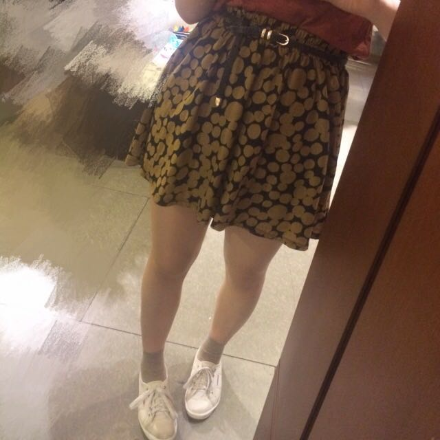 復古圓點短裙