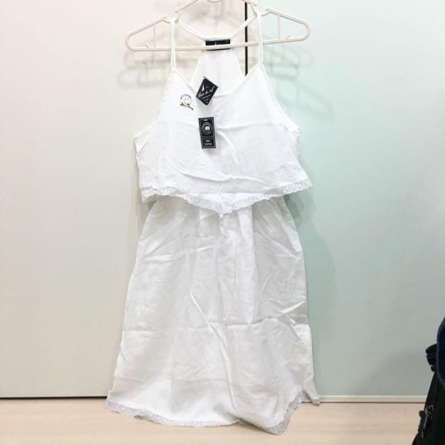 Blanc du nil 白色無袖洋裝