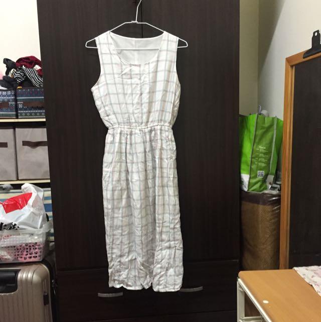 四四二手集 夏日清爽格子連身裙  #我的女裝可超取
