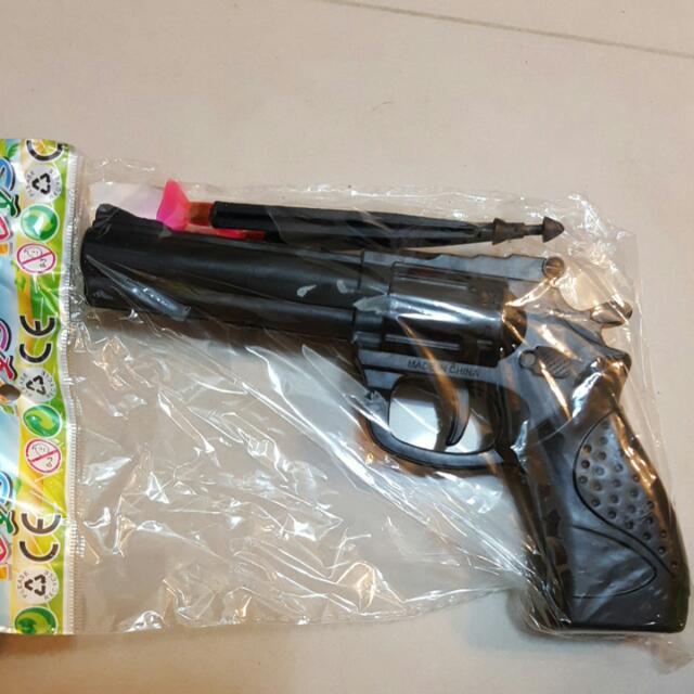 懷舊玩具 老左輪手槍 吸盤手槍,孩子用,無殺傷力【狀態如照片】