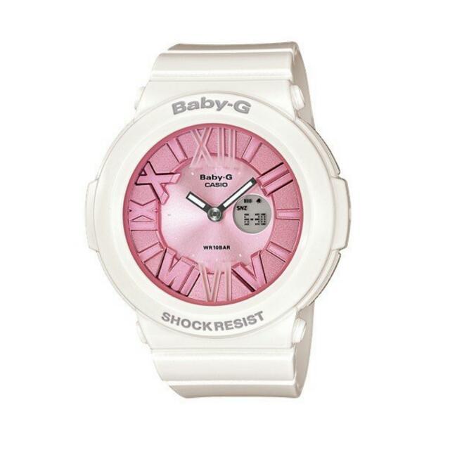 非常新 卡西歐 CASIO BABY-G 粉紅 馬卡龍 手錶 女錶 BGA-161-7B2