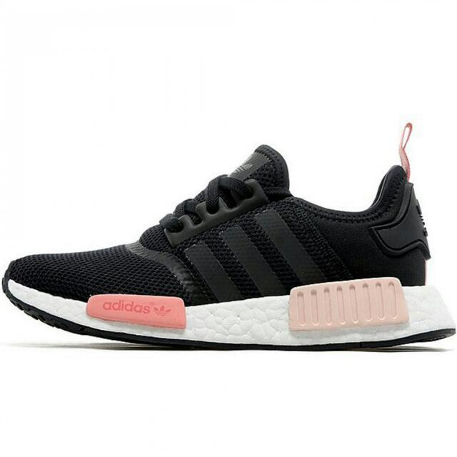 huge selection of a7a5e a076b Avail Size 40 - Adidas Nmd Runner Black Peach Pink, Women s Fashion ...