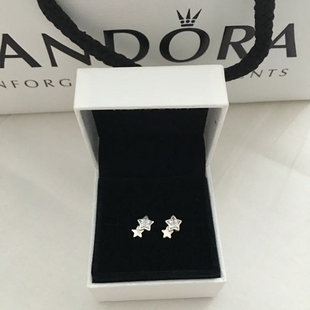 Authentic PANDORA Star Silver Earrings!! Brand NEW!!