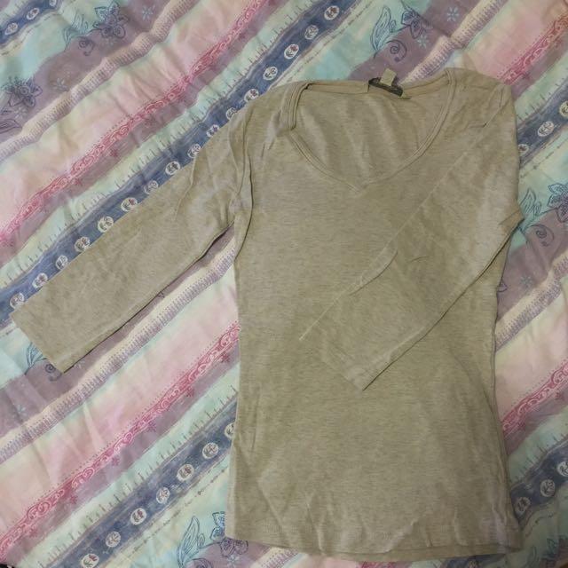 Black / Beige Plain Shirts