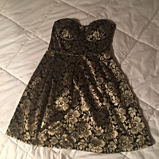 Black And Gold Dress Size 10
