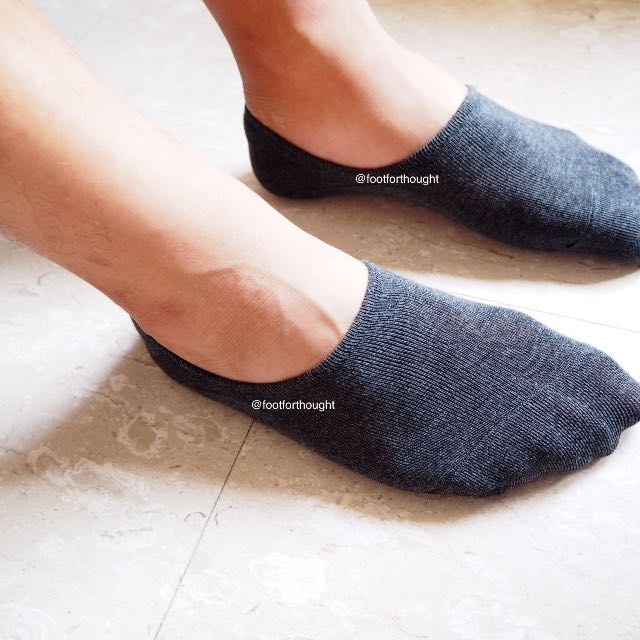 [INSTOCK]Men's Invisible Patterned High Rise Boat Socks