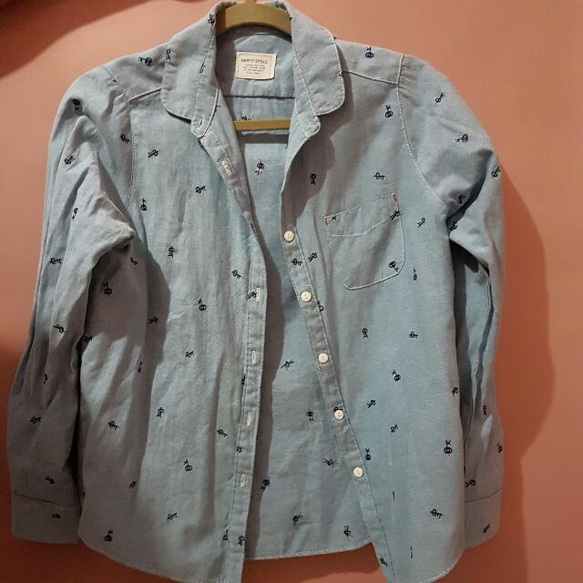 Denim Longsleeves Button Up