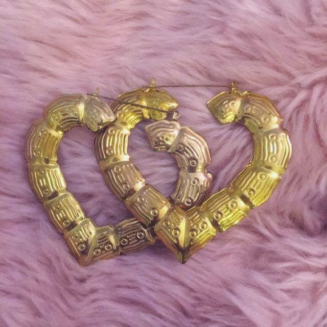 Fake Bamboo Gold Earrings