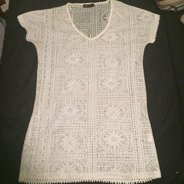 Floral Lace Tshirt Dress