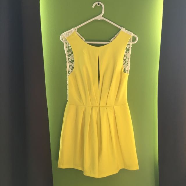 Fluro Yellow Playsuit