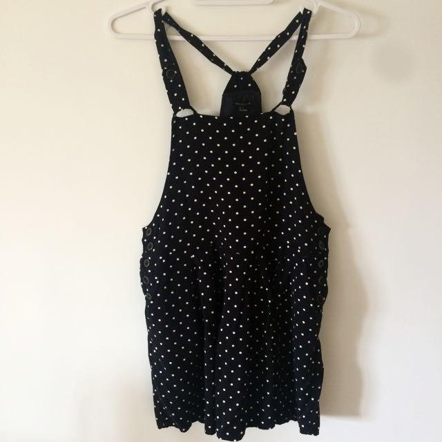 Forever 21黑色點點吊帶洋裝