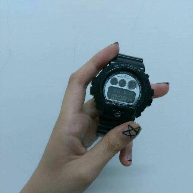 (保留)G-shock黑銀手錶
