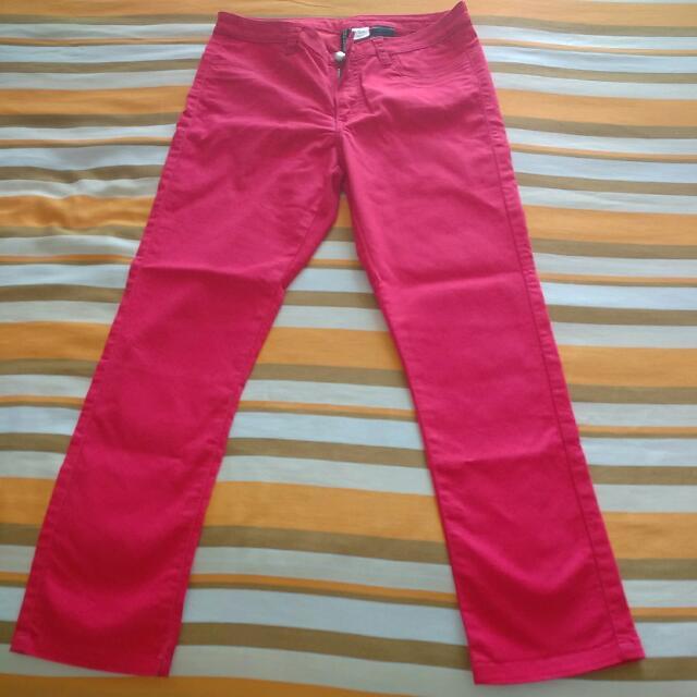 H&M Red Skinny Pants