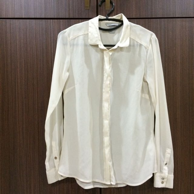 H&M Sheer Blouse - Off White