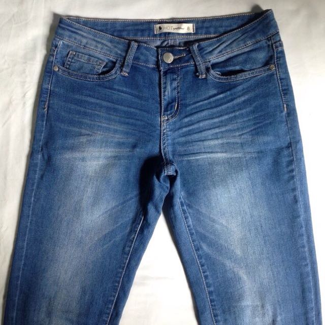 Hot Option Skinny Leg Blue Denim Jeans Size 8