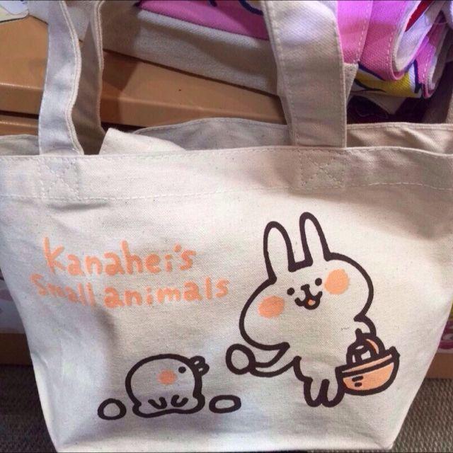 日本kanahei限定小動物P助兔兔帆布手提袋