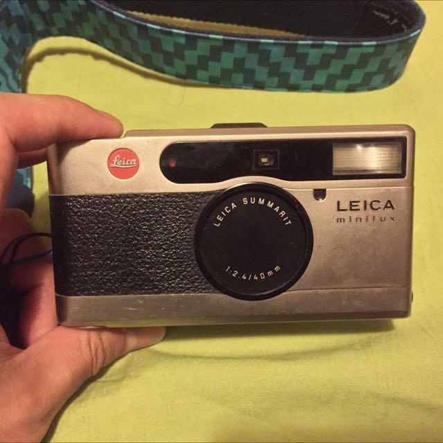 Leica minilux 40mm 定焦鏡頭 底片機