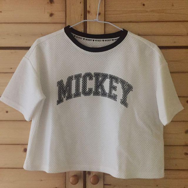 短版Mickey字母T