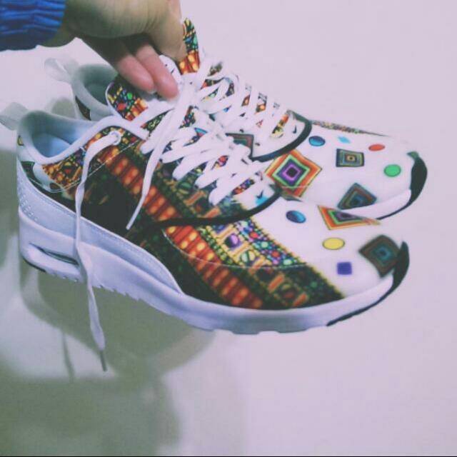 (保留)降價💰二手🔵Nike Airmax Liberty 圖騰款運動鞋